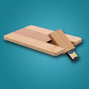 فلش مموری کارتی چوبی