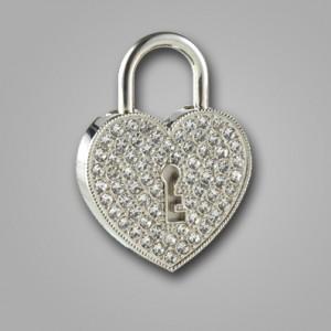 فلش مموری جواهری قلبی قفلی